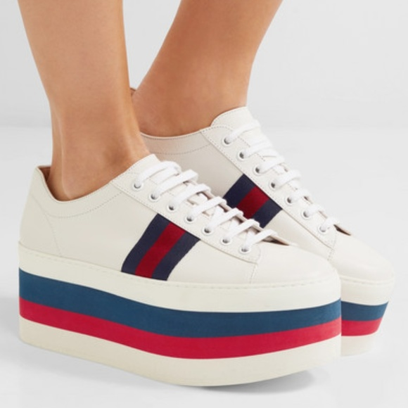 Gucci Leather Platform Sneakers 385